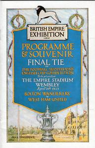 1923 FA CUP FINAL - BOLTON v WEST HAM