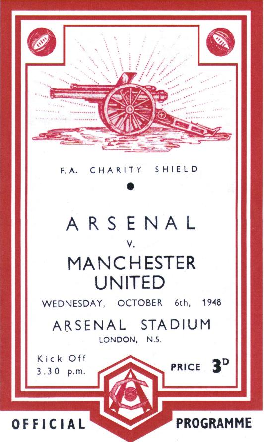 1948 CHARITY SHIELD - ARSENAL v MAN UTD