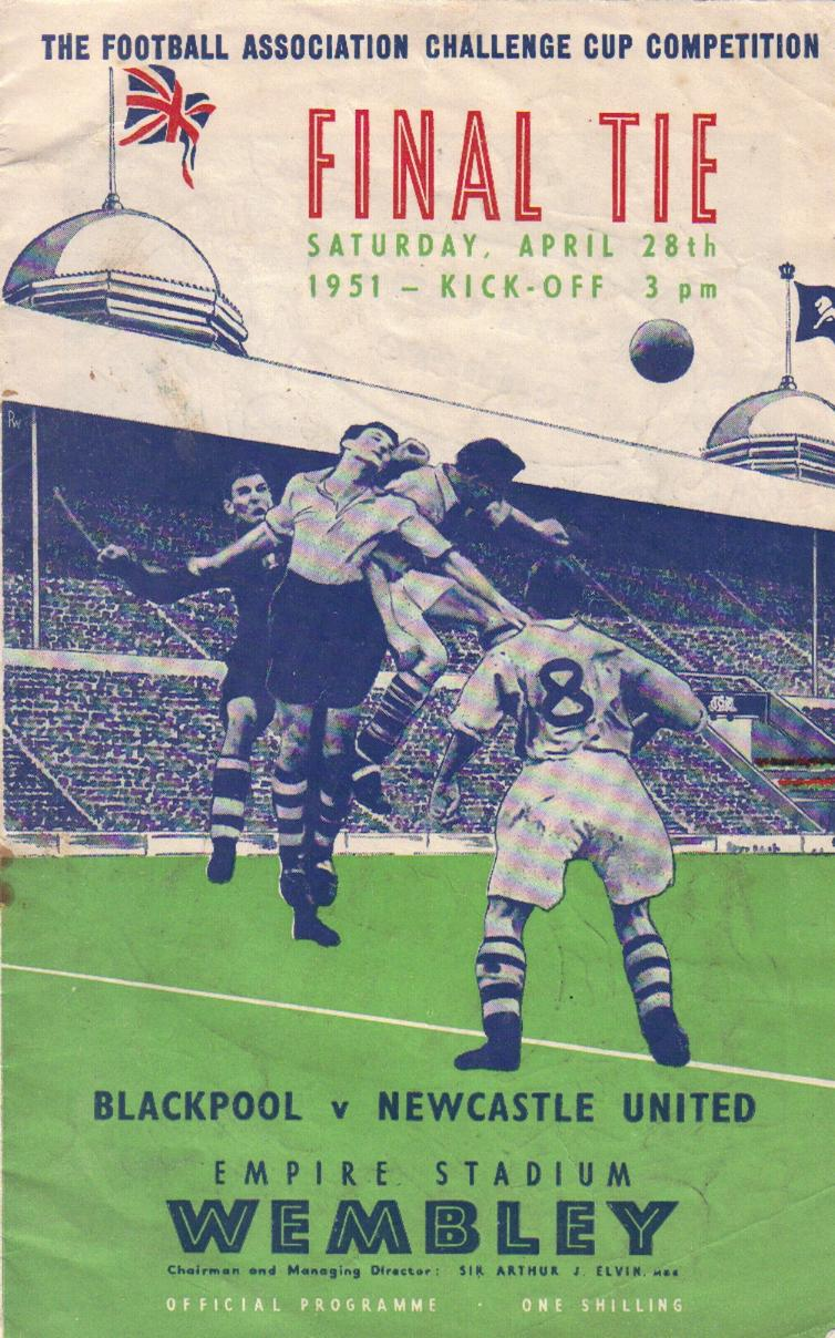1951 FA CUP FINAL - BLACKPOOL v NEWCASTLE UNITED