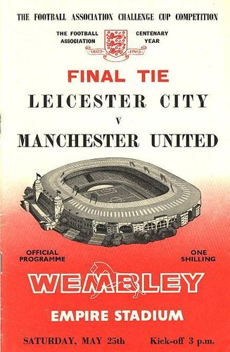 1963 FA CUP FINAL - MAN UTD v LEICESTER CITY