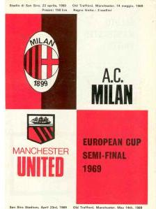 1969 EUROPEAN CUP SEMI-FINAL - AC MILAN v MAN UTD