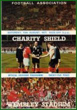 1977 CHARITY SHIELD - LIVERPOOL v MAN UTD