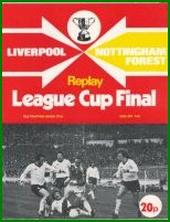 1978 LEAGUE CUP FINAL REPLAY - NOTTINGHAM FOREST v LIVERPOOL