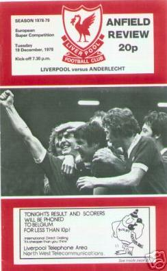 1978 SUPER CUP FINAL - LIVERPOOL v ANDERLECHT