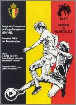 1980 CUP WINNERS CUP FINAL - ARSENAL v VALENCIA - Click Image to Close
