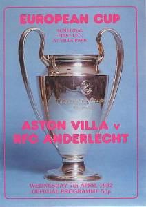 1982 EUROPEAN CUP SEMI-FINAL - ASTON VILLA v ANDERLECHT