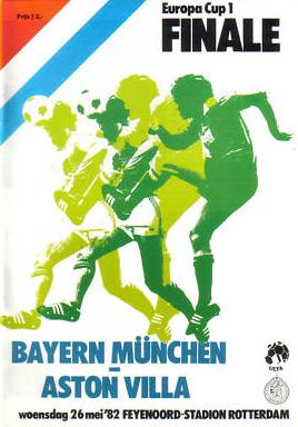 1982 EUROPEAN CUP FINAL - ASTON VILLA v BAYERN MUNICH