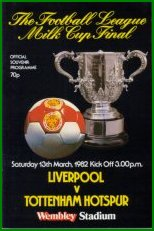 1982 LEAGUE CUP FINAL - LIVERPOOL v TOTTENHAM