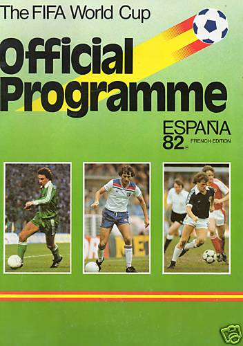 1982 WORLD CUP FINALS OFFICIAL TOURNAMENT PROGRAMME