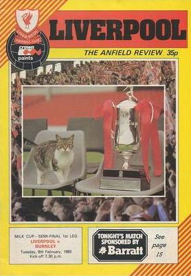 1983 LEAGUE CUP SEMI-FINAL - LIVERPOOL v BURNLEY
