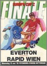 1985 CUP WINNERS CUP FINAL - EVERTON v RAPID VIENNA