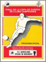 1986 EUROPEAN CUP FINAL - BARCELONA v STEAUA BUCHAREST