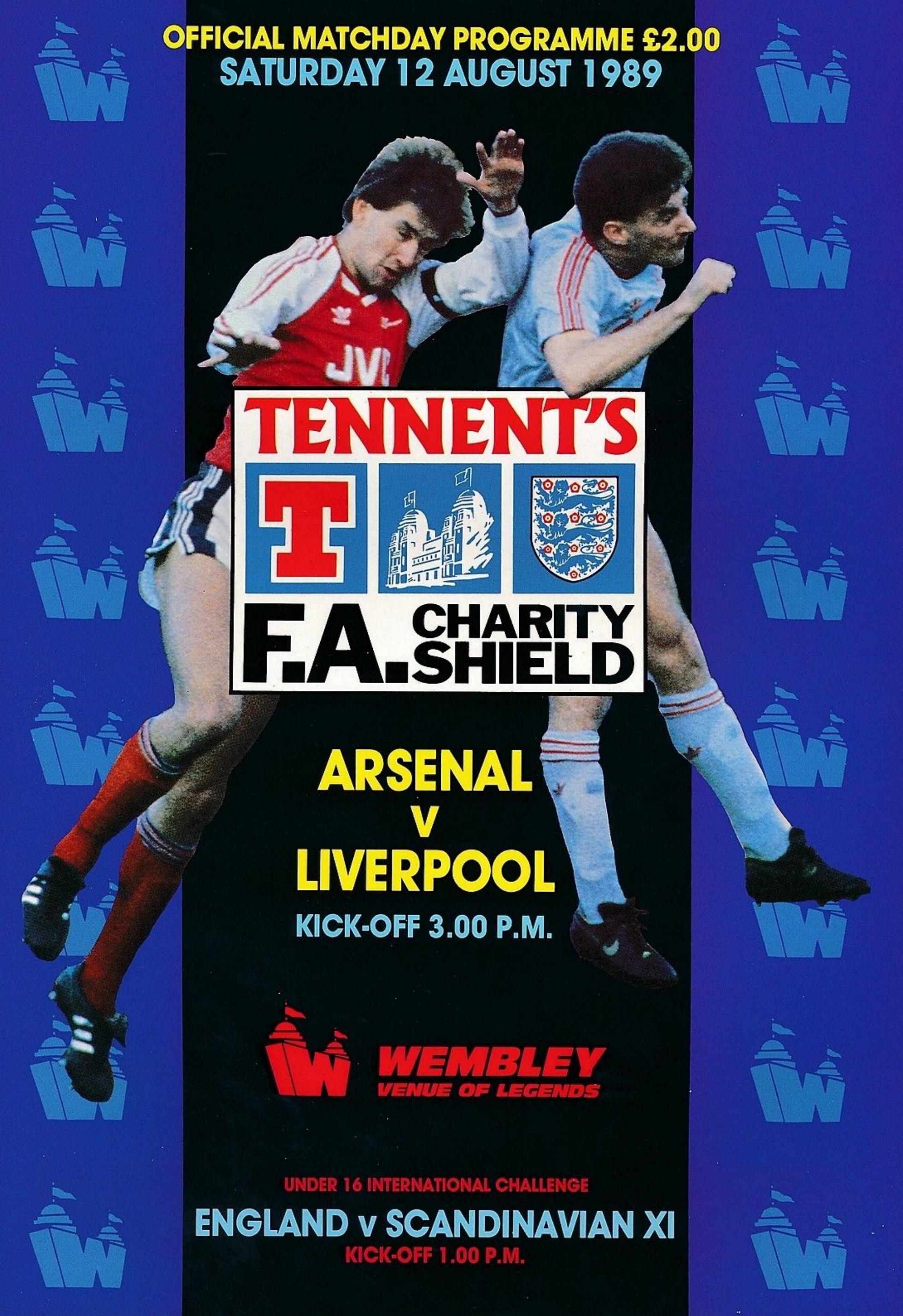 1989 CHARITY SHIELD - ARSENAL v LIVERPOOL