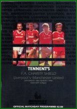 1990 CHARITY SHIELD - LIVERPOOL v MAN UTD