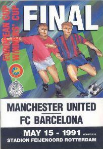 1991 CUP WINNERS CUP FINAL - MAN UTD v BARCELONA