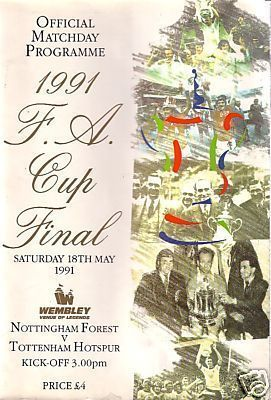1991 FA CUP FINAL - TOTTENHAM v NOTTINGHAM FOREST