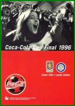 1996 LEAGUE CUP FINAL - ASTON VILLA v LEEDS UTD