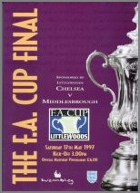 1997 FA CUP FINAL - CHELSEA v MIDDLESBROUGH