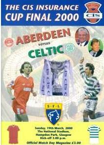 2000 SCOTTISH LEAGUE CUP FINAL - ABERDEEN v CELTIC