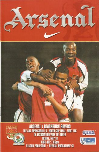 2001 FA YOUTH CUP FINAL - ARSENAL v BLACKBURN ROVERS