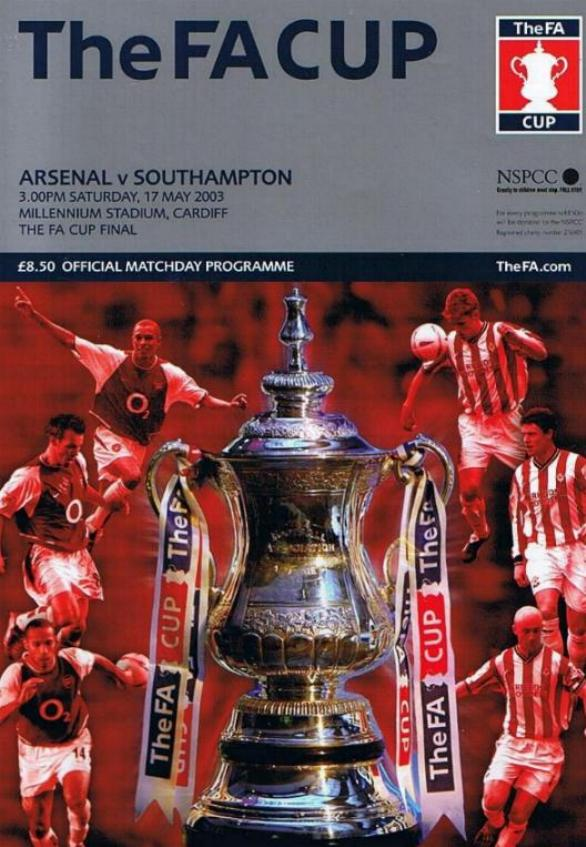 2003 FA CUP FINAL - ARSENAL v SOUTHAMPTON