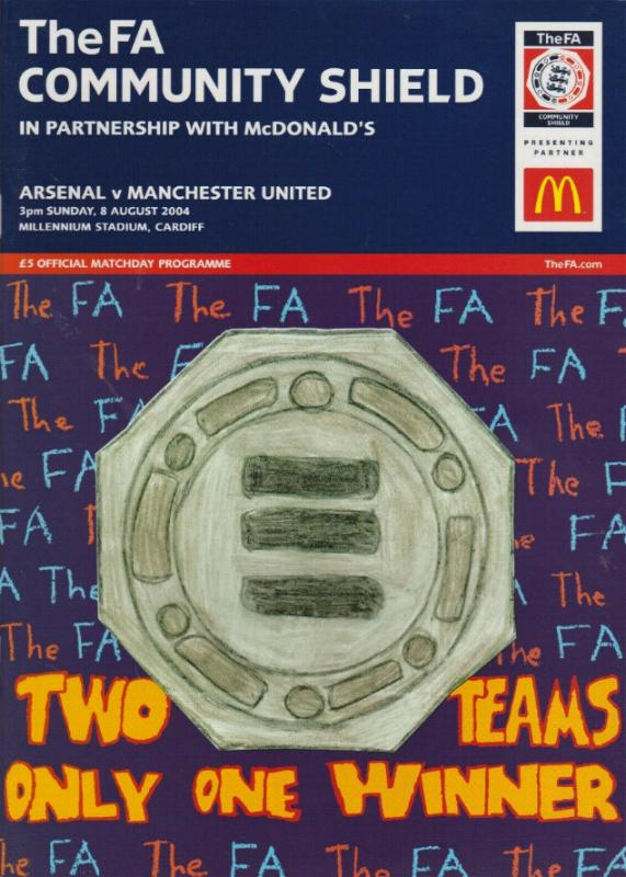 2004 COMMUNITY SHIELD - ARSENAL v MAN UTD