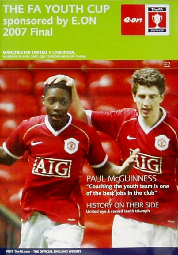 2007 FA YOUTH CUP FINAL (2nd LEG) - MAN UTD v LIVERPOOL