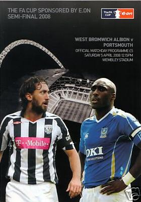 2008 FA CUP SEMI-FINAL - PORTSMOUTH v WEST BROM