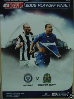 2008 LEAGUE TWO PLAY-OFF FINAL - ROCHDALE v STOCKPORT