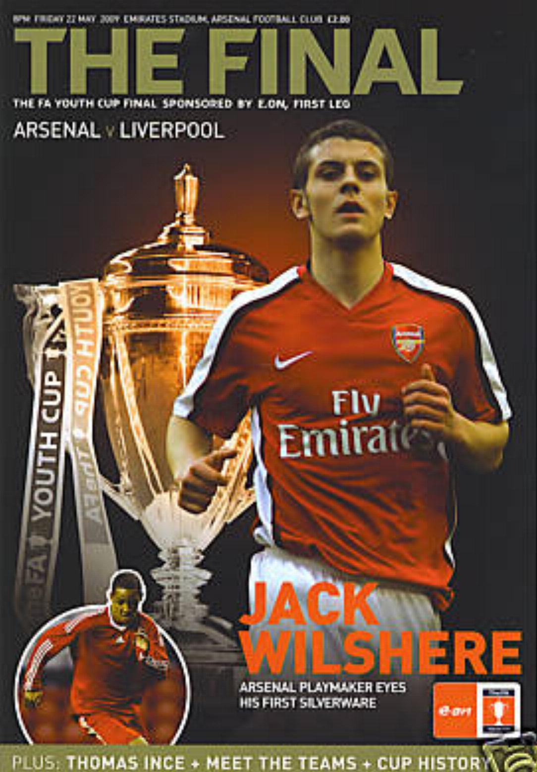 2009 FA YOUTH CUP FINAL (1st LEG) - ARSENAL v LIVERPOOL