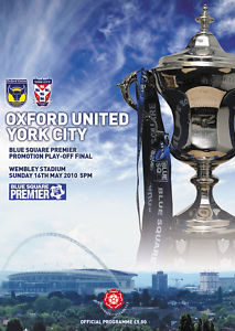 2010 CONFERENCE PLAY-OFF FINAL - OXFORD UTD v YORK CITY