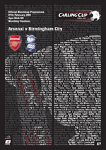 2011 CARLING CUP FINAL - ARSENAL v BIRMINGHAM CITY