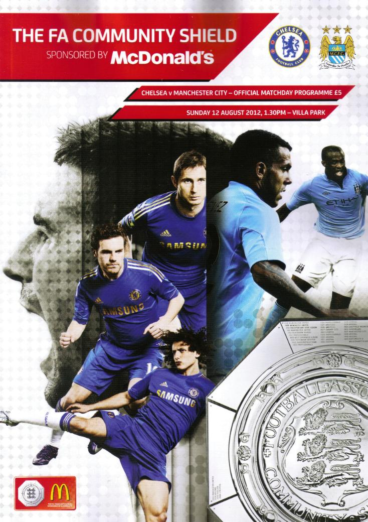 2012 COMMUNITY SHIELD - CHELSEA v MAN CITY