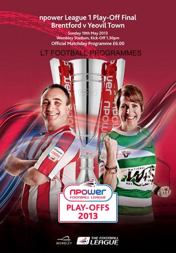 2013 LEAGUE ONE PLAY-OFF FINAL - BRENTFORD v YEOVIL TOWN