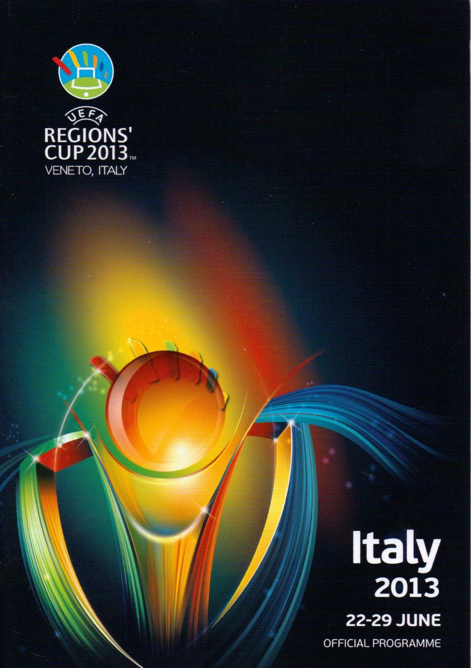 2013 UEFA REGIONS CUP FINALS PROGRAMME (ITALY)