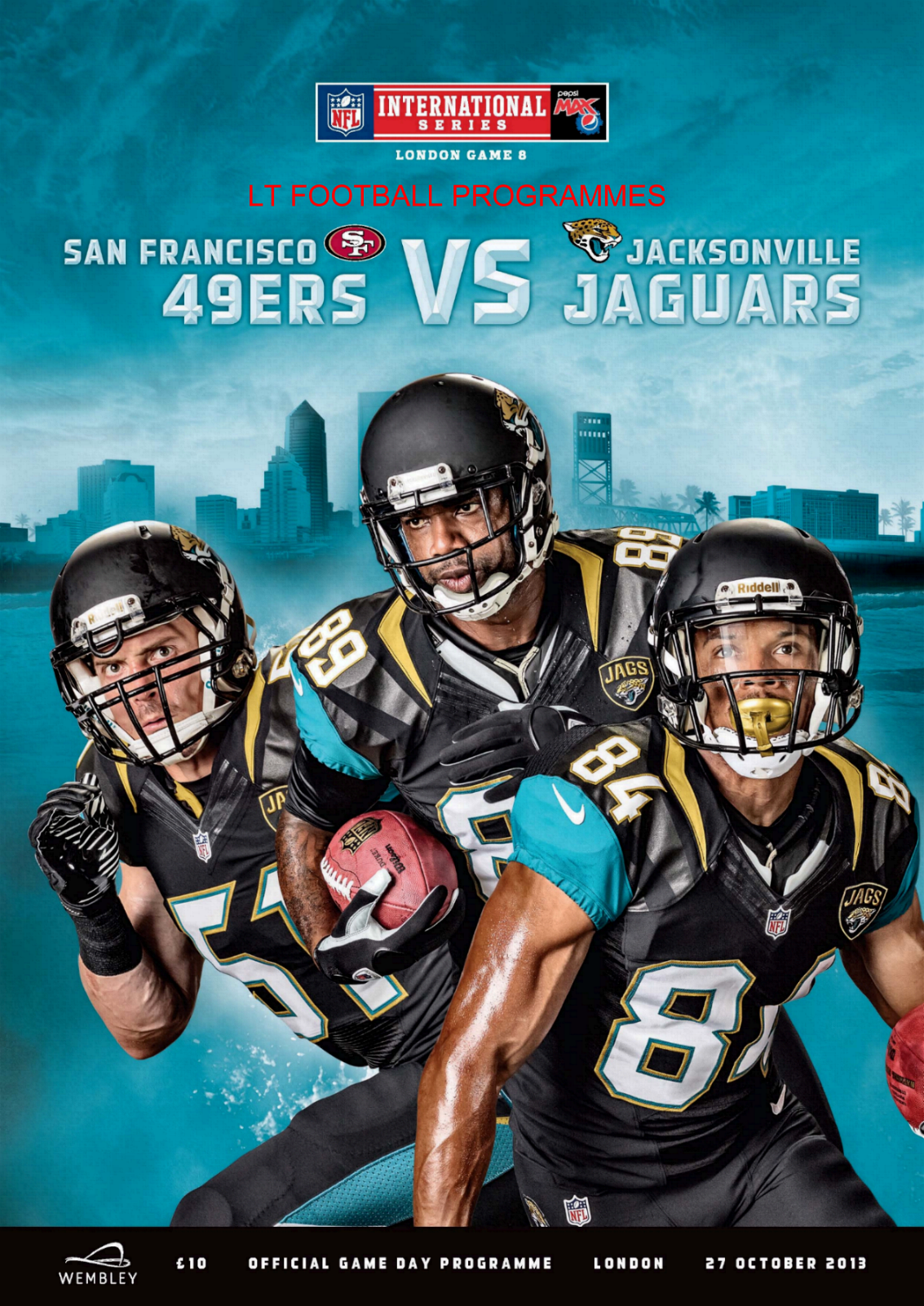 2013 - NFL AT WEMBLEY - JACKSONVILLE JAGS v SAN FRANCISCO 49ers