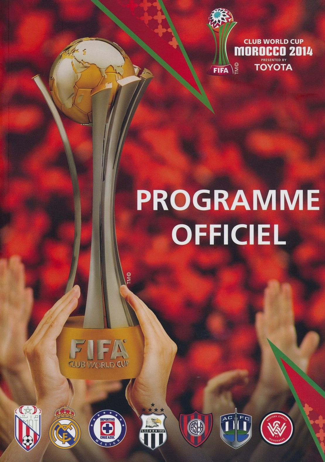 2014 FIFA CLUB WORLD CUP TOURNAMENT (MOROCCO) PROGRAMME FRENCH