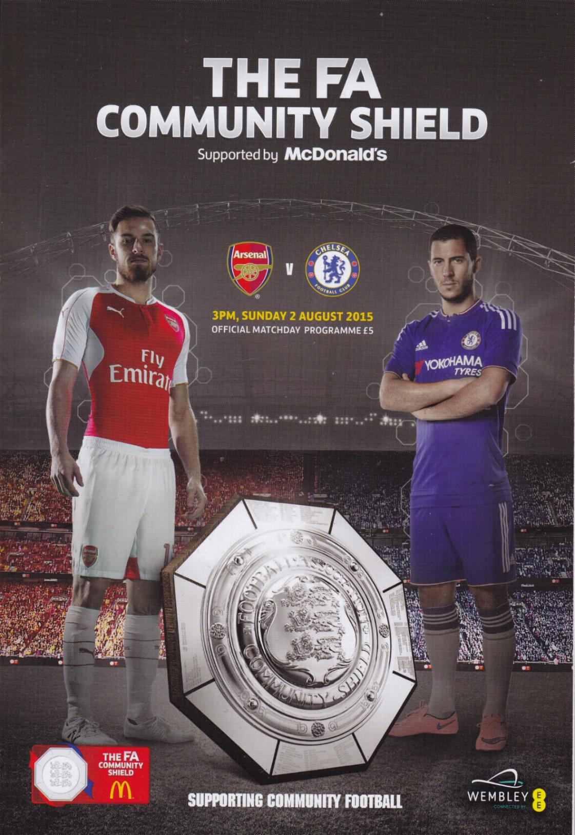 2015 COMMUNITY SHIELD - ARSENAL v CHELSEA