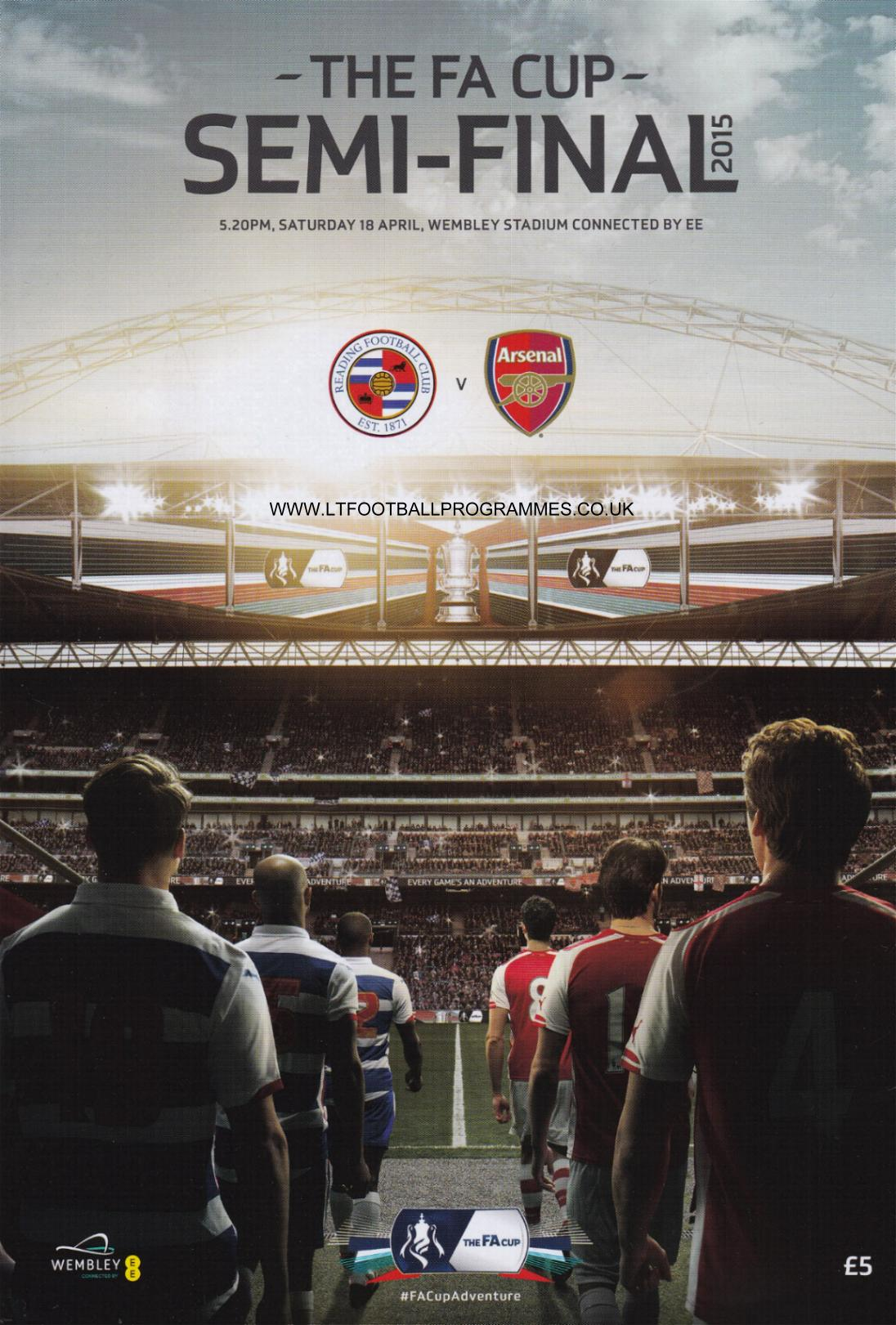 2015 FA CUP SEMI-FINAL - ARSENAL v READING