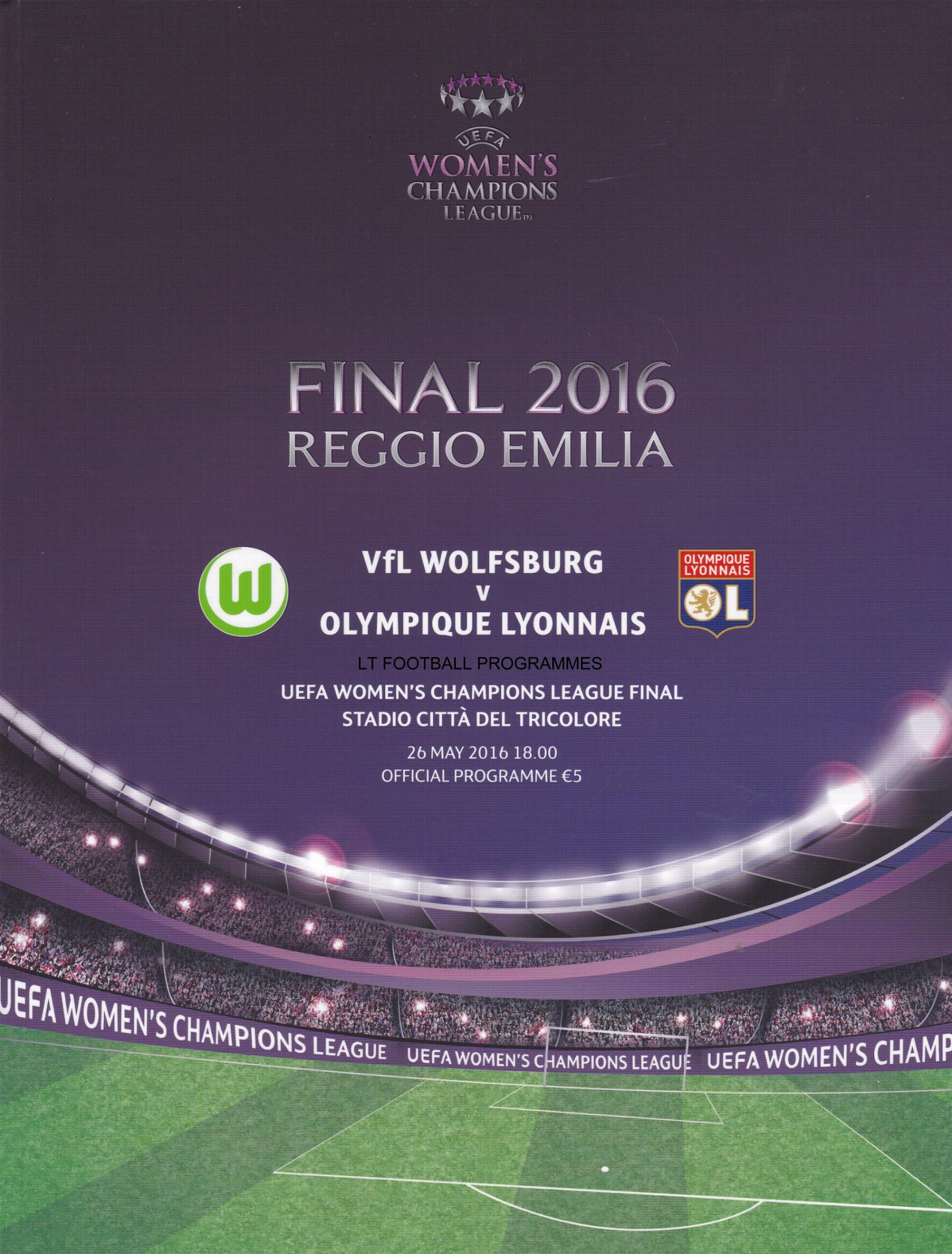 2016 WOMENS CHAMPIONS LEAGUE FINAL - WOLFSBURG v LYON
