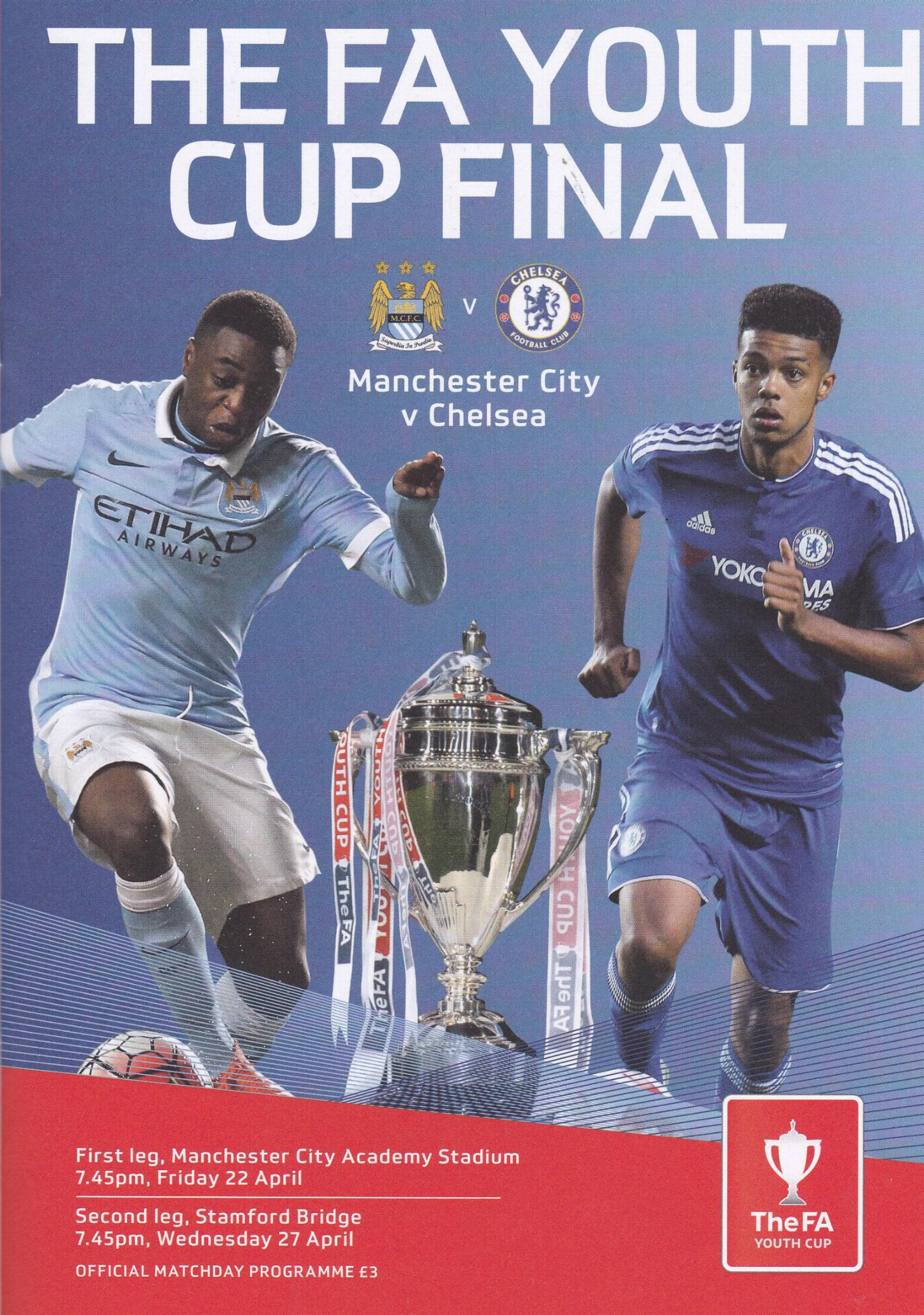 2016 FA YOUTH CUP FINAL - CHELSEA v MAN CITY (BOTH LEGS)