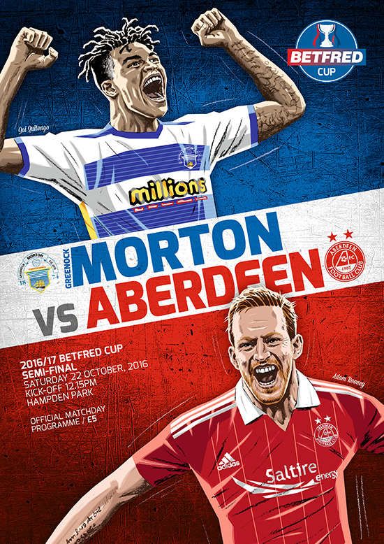2016/17 SCOTTISH LEAGUE CUP SEMI-FINAL - MORTON v ABERDEEN