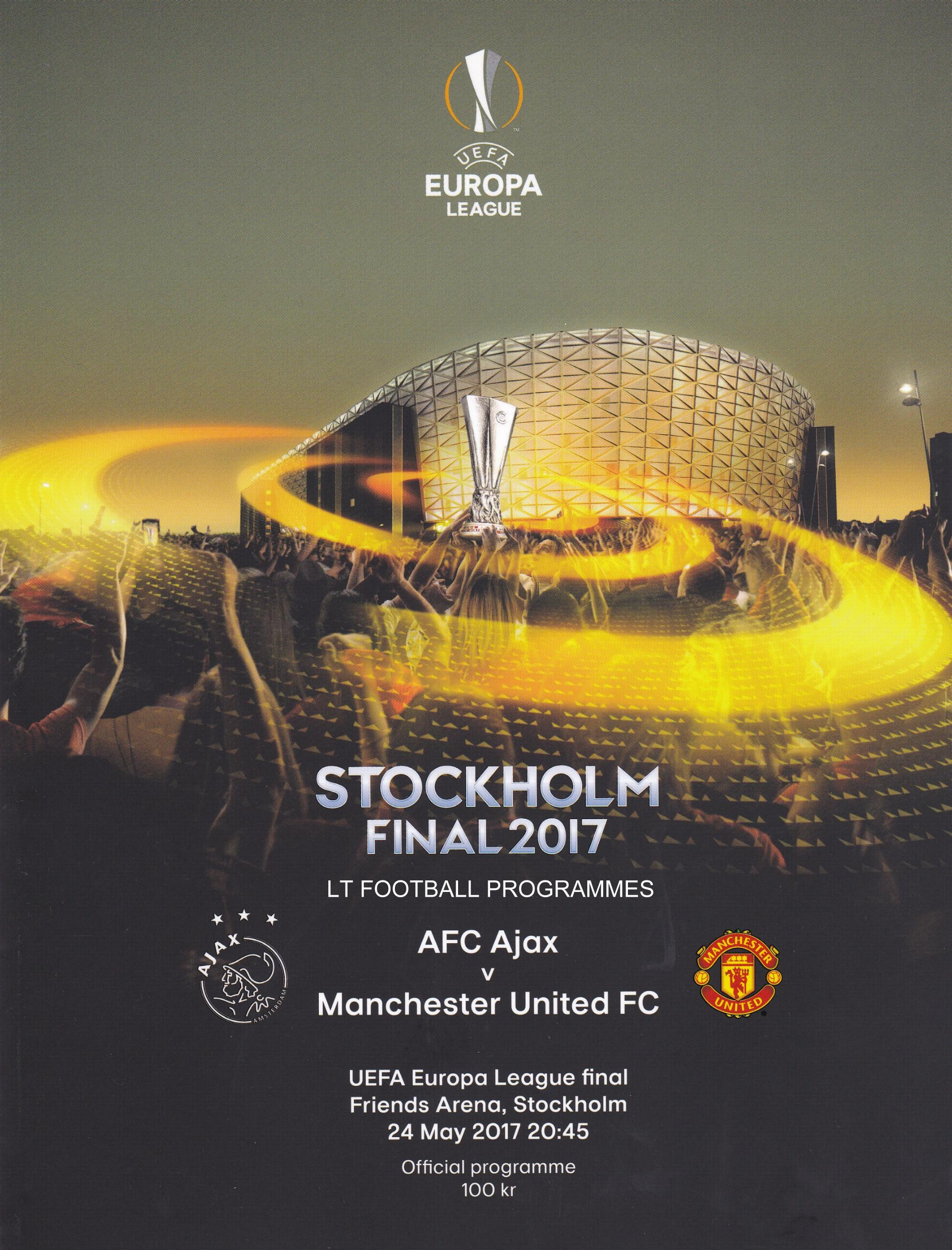 2017 EUROPA LEAGUE FINAL - MAN UTD v AJAX - Click Image to Close