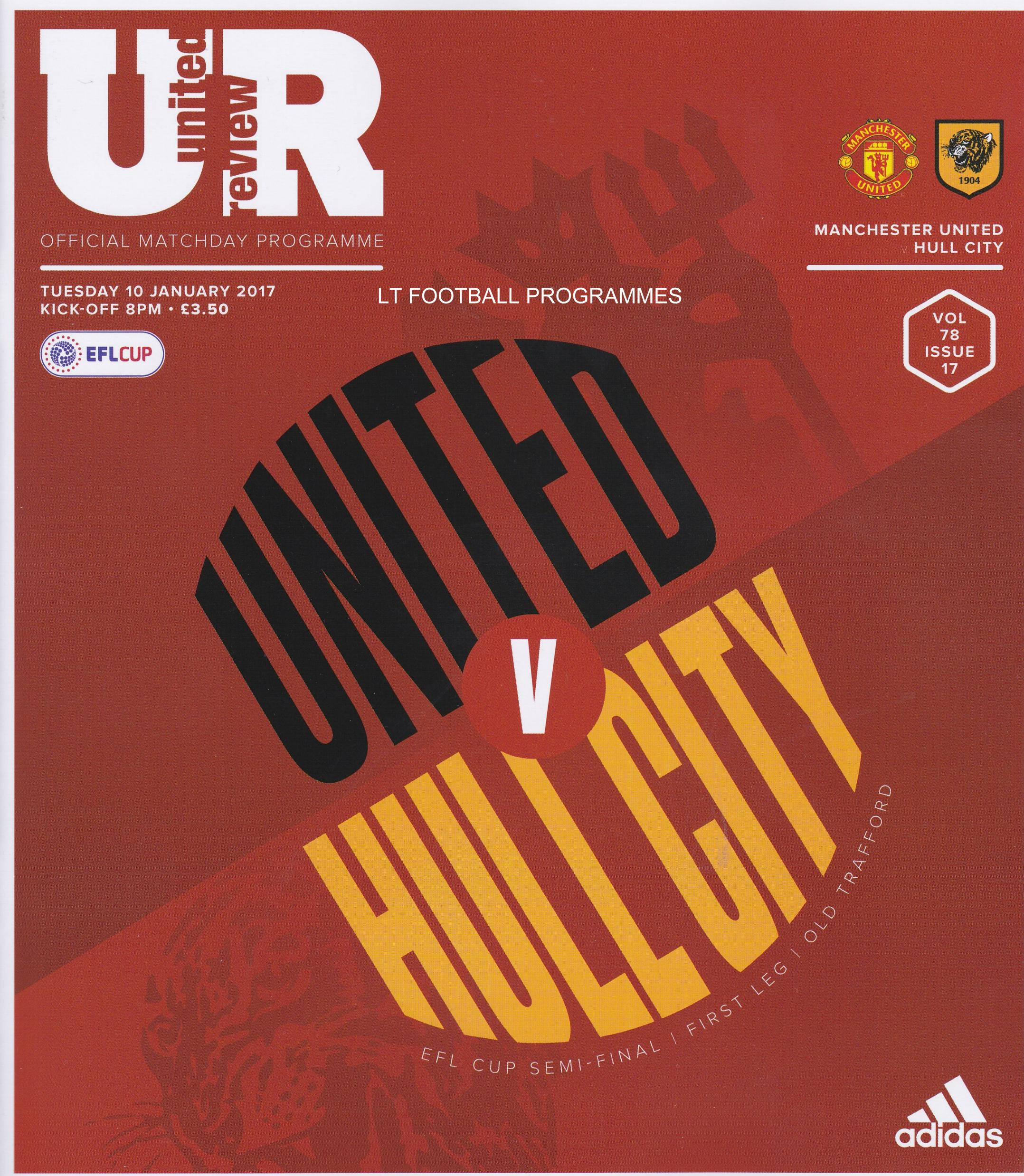 2017 EFL CUP SEMI-FINAL - MAN UTD v HULL CITY
