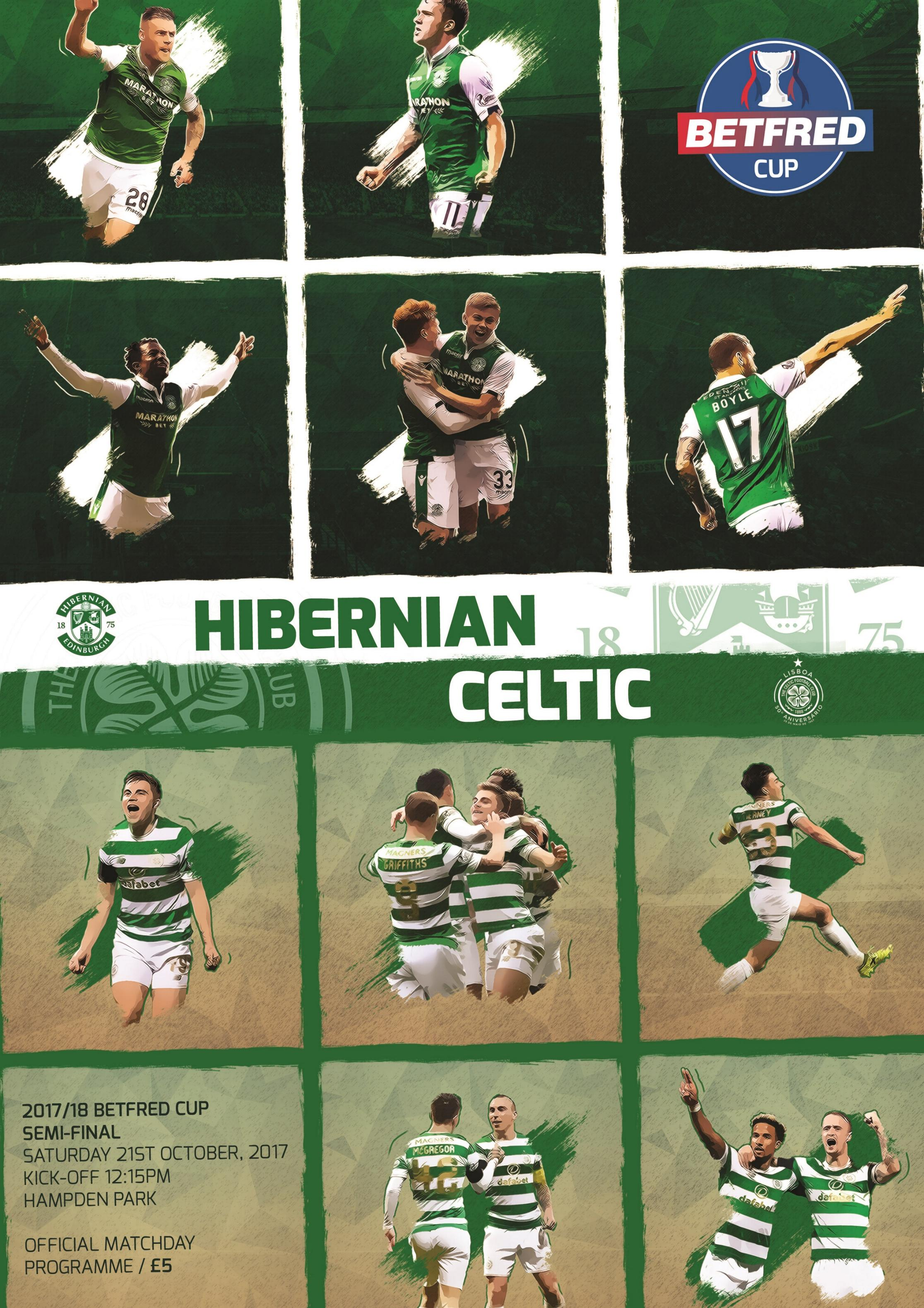 2017/18 SCOTTISH LEAGUE CUP SEMI-FINAL - CELTIC v HIBERNIAN