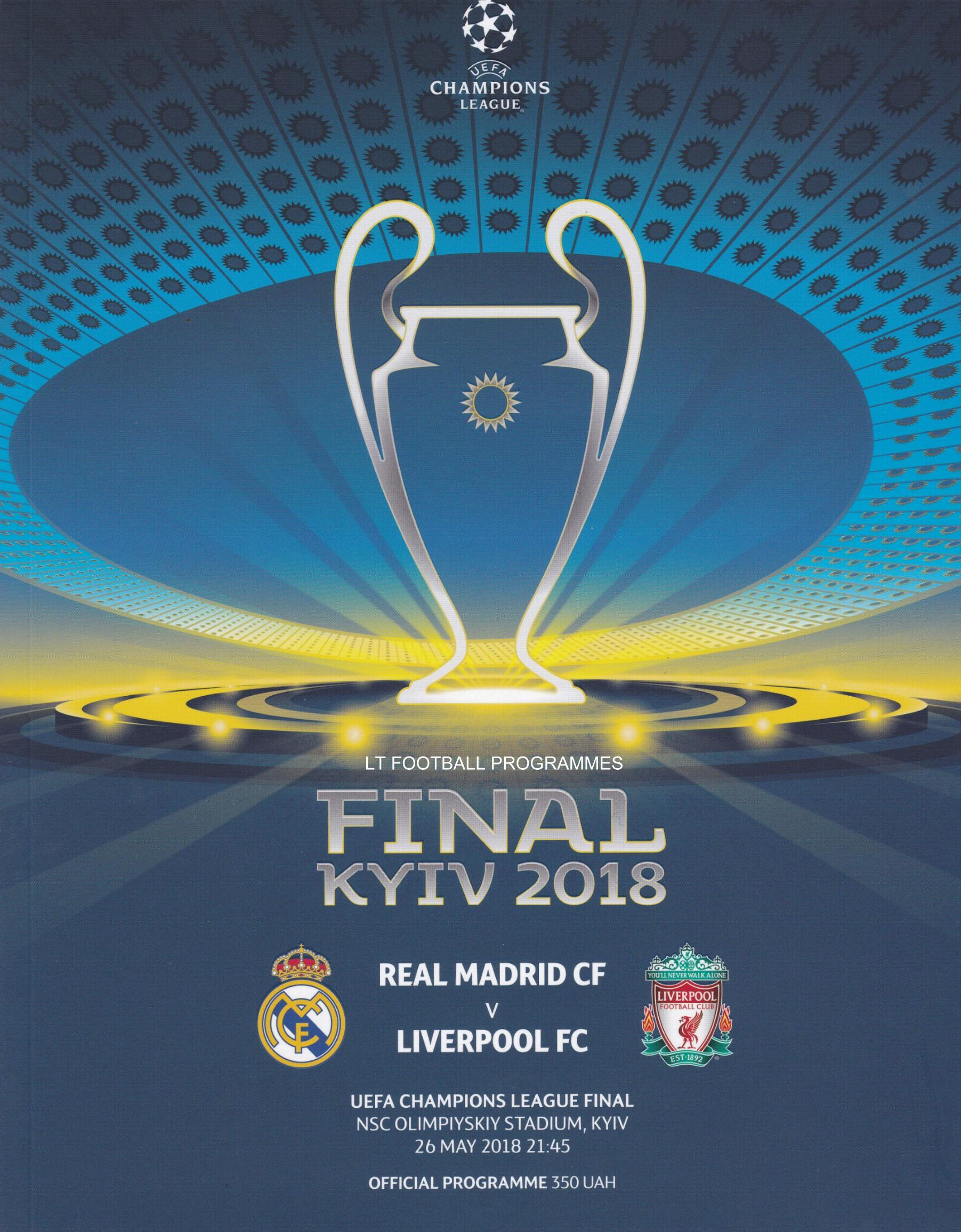 2018 CHAMPIONS LEAGUE FINAL - LIVERPOOL v REAL MADRID POST FREE