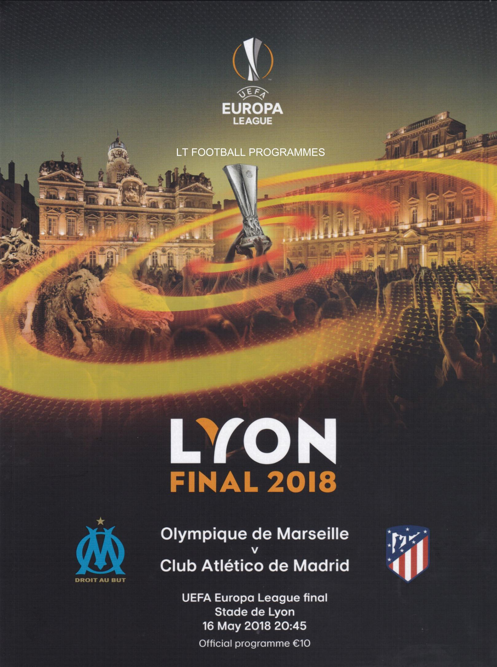 2018 EUROPA LEAGUE FINAL - ATLETICO MADRID v MARSEILLE POST FREE