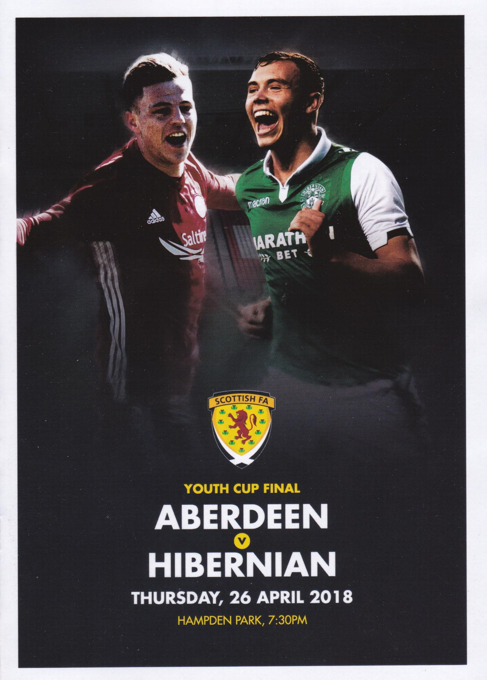 2018 SCOTTISH YOUTH CUP FINAL - ABERDEEN v HIBERNIAN