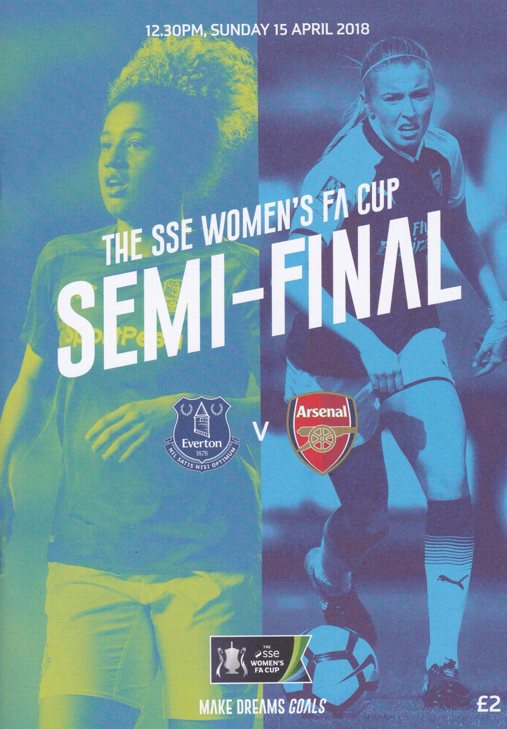 2018 WOMENS FA SEMIS - EVERTON v ARSENAL & CHELSEA v MAN CITY