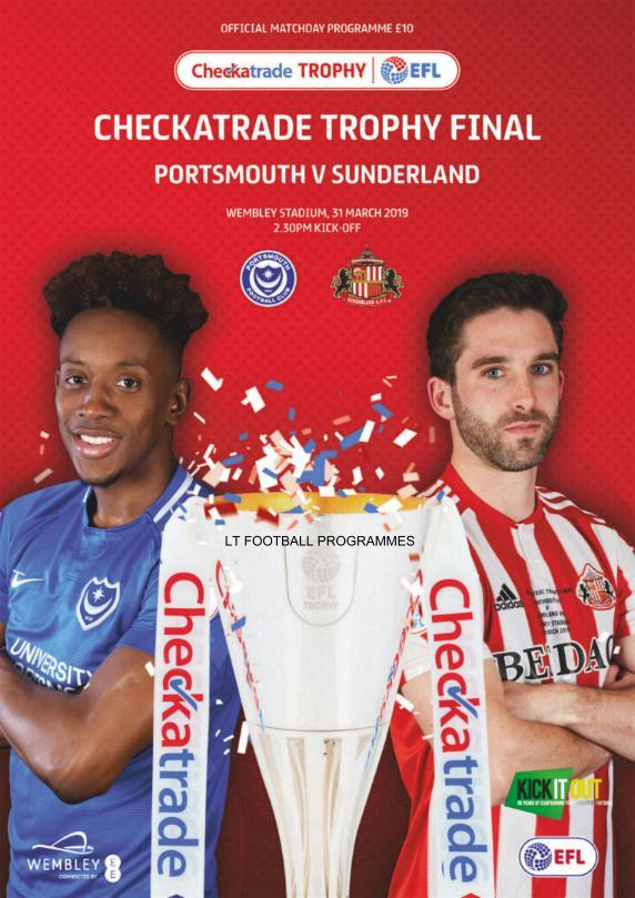 2019 CHECKATRADE TROPHY FINAL - PORTSMOUTH v SUNDERLAND